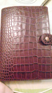 Personal Osterley in Plum - Embossed Leather